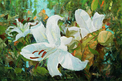 Painting - Lilies by Bart DeCeglie