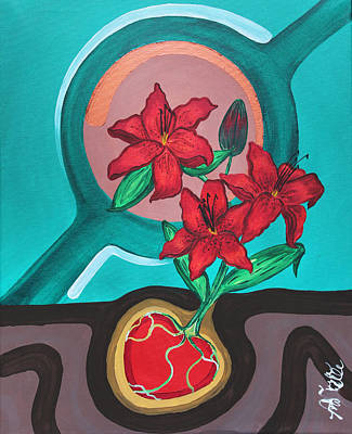 Painting - Lilies For My Love by Aliya Michelle