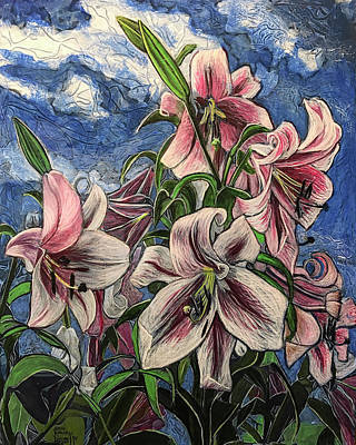 Painting - Lilies Grow On Ernie Lane by Ron Richard Baviello