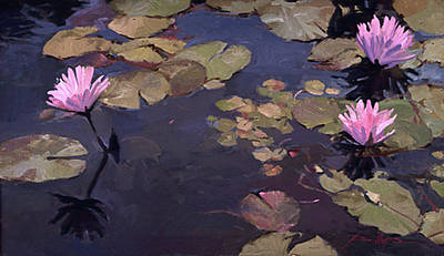 Painting - Lilies II - Water Lilies by Betty Jean Billups