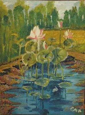 Photograph - Lilies In A Pond by Charles Ray