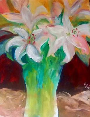 Painting - Lilies In A Vase 2 by Patricia Taylor