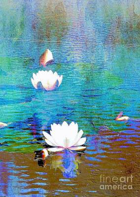 Photograph - Lilies In Abstract by Janette Boyd
