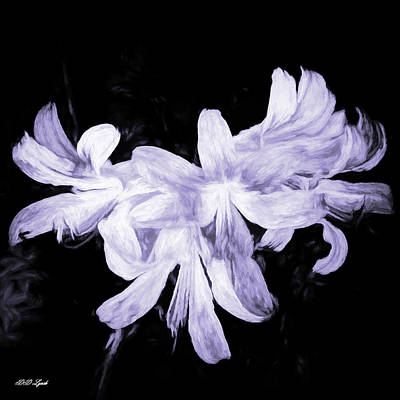 Lilies Mixed Media - Lilies In Black And White Art by Debra Lynch