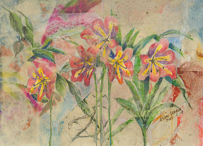 Lilies Mixed Media - Lilies In Disguise by Arline Wagner
