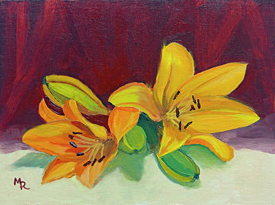 Painting - Lilies by Mike Robles