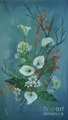 Arum Lily Painting - Lilies Of The Field by Rita Palm