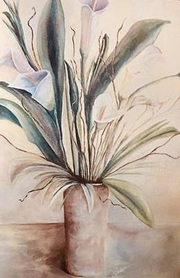 Painting - Lilies On A Table by Chuck Gebhardt