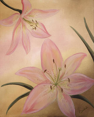 Painting - Lilies Part1 by Cathy Cleveland
