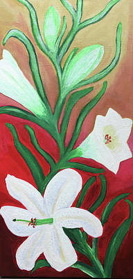 Painting - Lilies by Rebecca Gilsdorf
