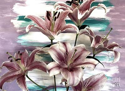 Etc Mixed Media - Lilies That Soothe Me by Marsha Heiken