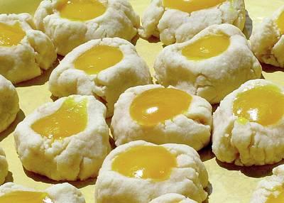 Thumbprint Shortbread Cookies With Lilikoi Butter Art Print