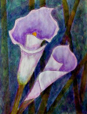 Lilium Painting - Lilium Calas by Madalena Lobao-Tello