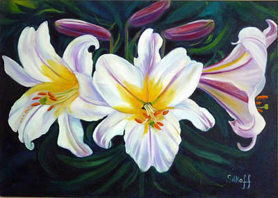 Painting - Lilium Regale by Janet Silkoff