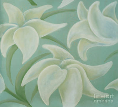 Painting - Lilium Seafoam by Flavia Westerwelle