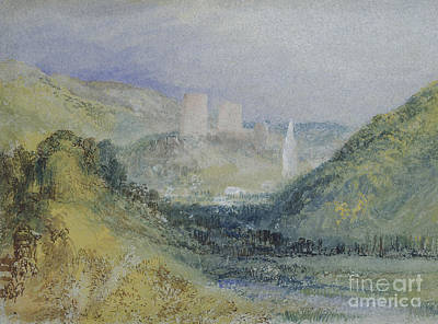 Rugged Hills Painting - Lillebonne by Joseph Mallord William Turner
