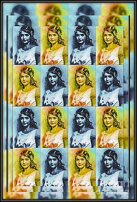 Mixed Media - Lillian Gish Actress - Pop Art by Ian Gledhill