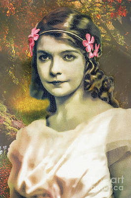 Digital Art - Lillian Gish - Movie Star by Ian Gledhill