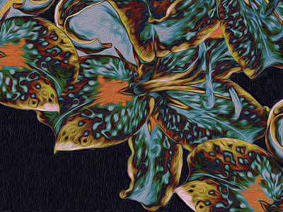 Digital Art - Lillies 22 by Lynda Lehmann