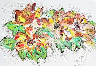 Painting - Lillies by Crystal Schaan