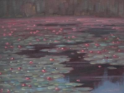 Lillies Lillies Lillies Original by Len Stomski