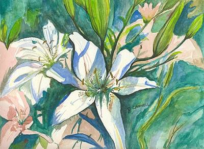 Painting - Lillies Two by Darren Cannell
