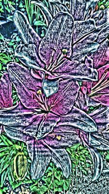 Digital Art - Lillies by Vickie G Buccini