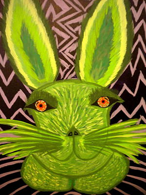Lagomorphs Painting - Lillith The Green Rabbit by Nick Reaves