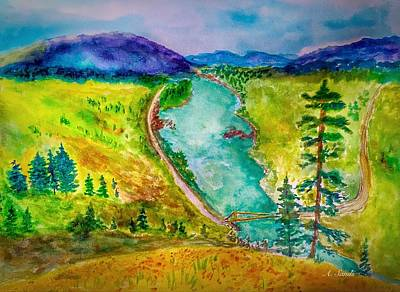 Painting - Lillooet Bc by Anne Sands