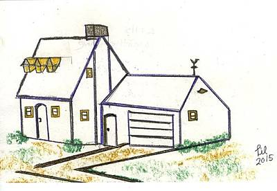 Weathervane Drawing - Lills Weathervane by Lill Curth