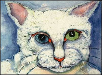 Painting - Lilly Cat Remembered by Michelle Spiziri