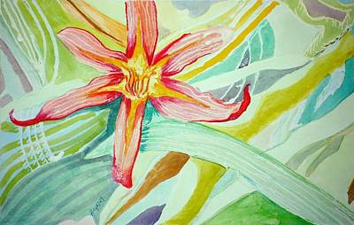 Painting - Lilly  by Jame Hayes