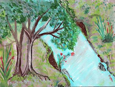 Tidal Creek Painting - Lilly Of The Valley by Barbara Krebs