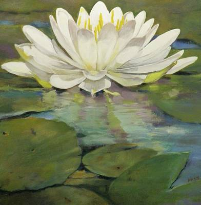 Lilly Pond Painting - Lilly Pad by Walt Maes