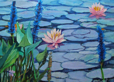 Painting - Lilly Pads by Michael McDougall