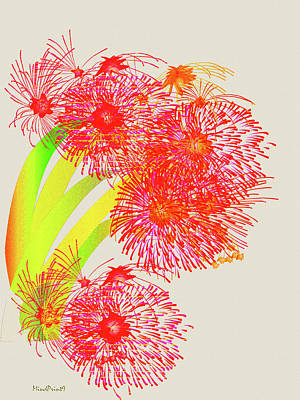Digital Art - Lilly Pilly by Asok Mukhopadhyay