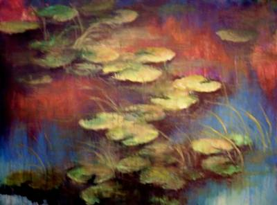 Lilly Pond Mixed Media - Lilly Pond In Autum  by Joann Shular