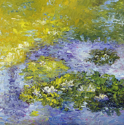 Lilly Pond Art Print by Terry  Chacon