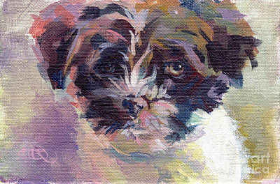 Sienna Painting - Lilly Pup by Kimberly Santini