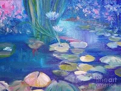 Lillypads Art Print by Judy Groves