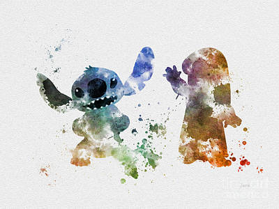 Disney Mixed Media - Lilo And Stitch by Rebecca Jenkins