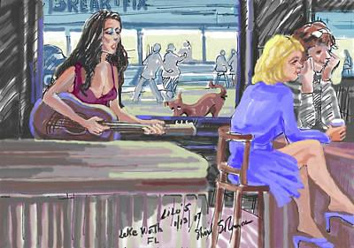 Lilos Cafe Lake Worth, Fl Art Print by Shirl Solomon