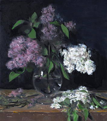 Painting - Lilting, Wilting Lilacs by Robert Holden