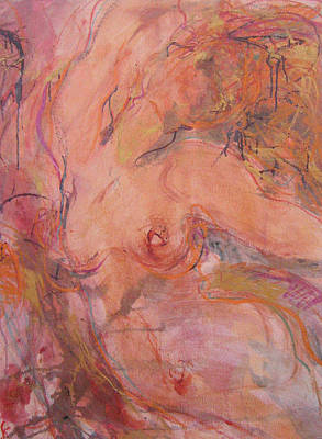 Abstracted Figuration Painting - Lilu by Kohlene Hendrickson