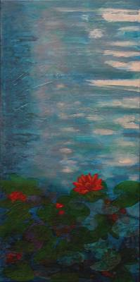 Wall Art - Painting - Lily 1 by Laura Gabel