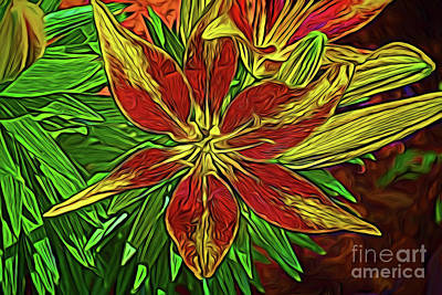 Photograph - Lily 32818c by Ray Shrewsberry