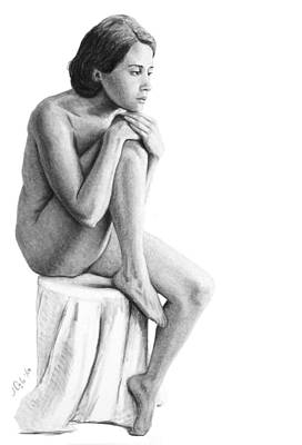 Drawing - Lily A Seated Study by Joseph Ogle