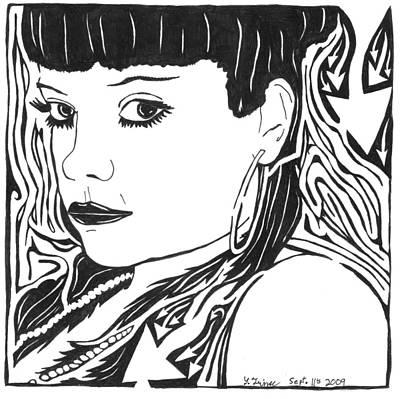 Yonatan Painting - Lily Allen Maze by Yonatan Frimer Maze Artist