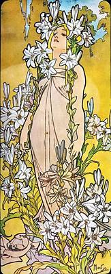 Painting - Lily by Alphonse Mucha