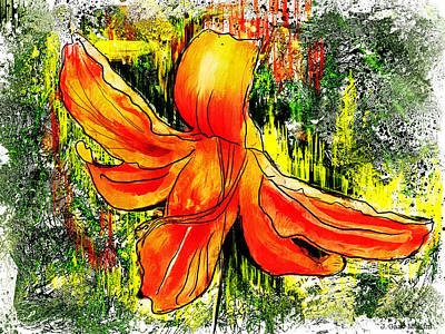 Painting - Lily And Lines by Jo-Anne Gazo-McKim